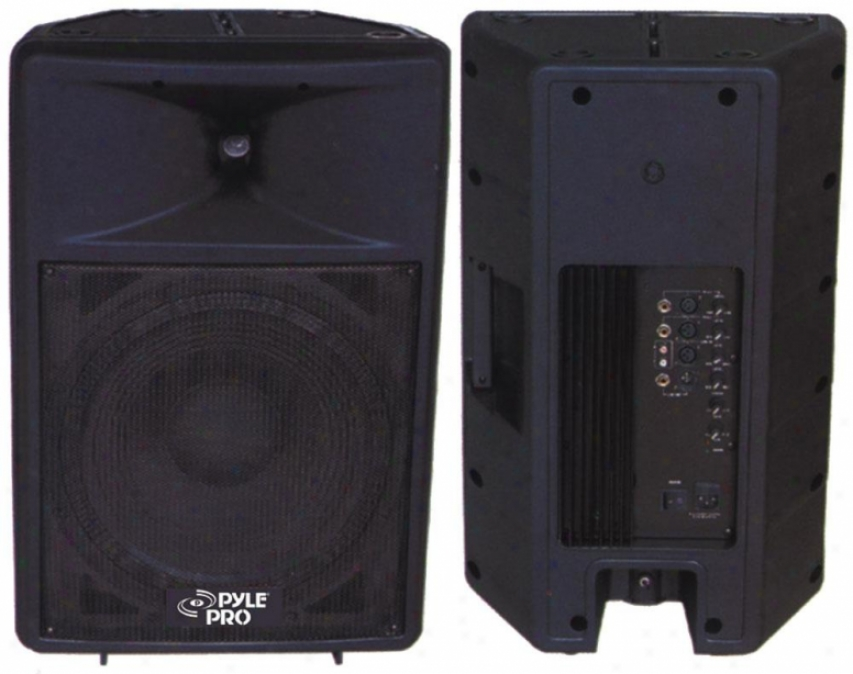 Pyle 800 Wagt Powered 12'' Two-way Plastic Molded Loudspeaker