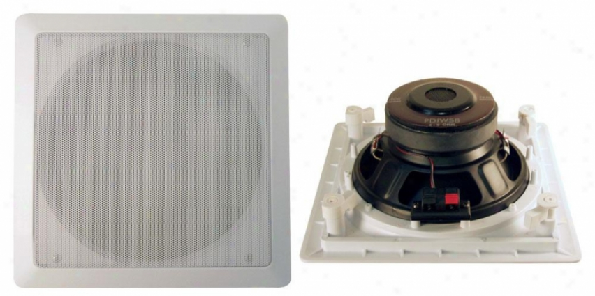 Pyle 8'' In-wall / In-ceiling High Power Subwoofer