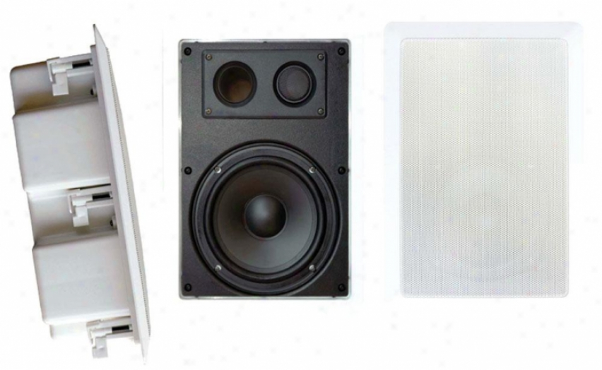 Pyle 8'' Two Way In Wall Enclosdd Speaker System W/ Directional Tweeter