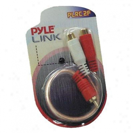 Pyle 9-inch Dual Female To Alone Male Rca ''y'' Connector - Plrc2f