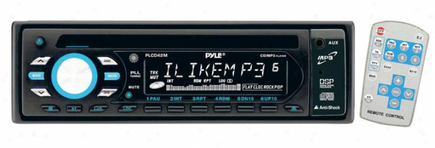 Pyle Am/fm-mpx Anti-shock Cd/mp3 Player With Aux, Input & Remote Control