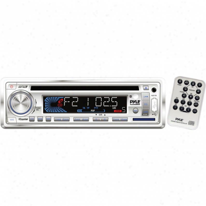 Pyle Am/fm-mlx In-dash Marine Cd/mp3 Player/weatherband/usb & Sd Card Function