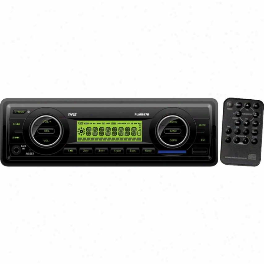 Pyle Am/fm-mpx In-dash Marine Mp3 Player/weatherband/usb & Sd Card - Black