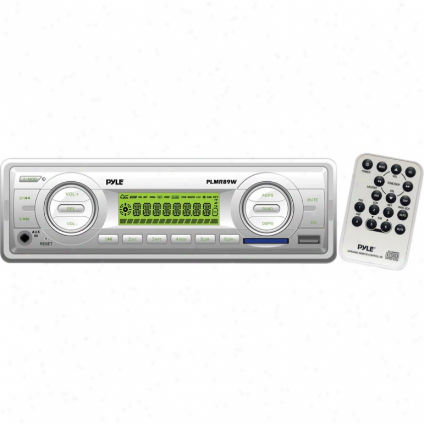 Pyle Am/fm-mpx In-dash Marine Mp3 Player/weatherabnd/usb & Sd Card