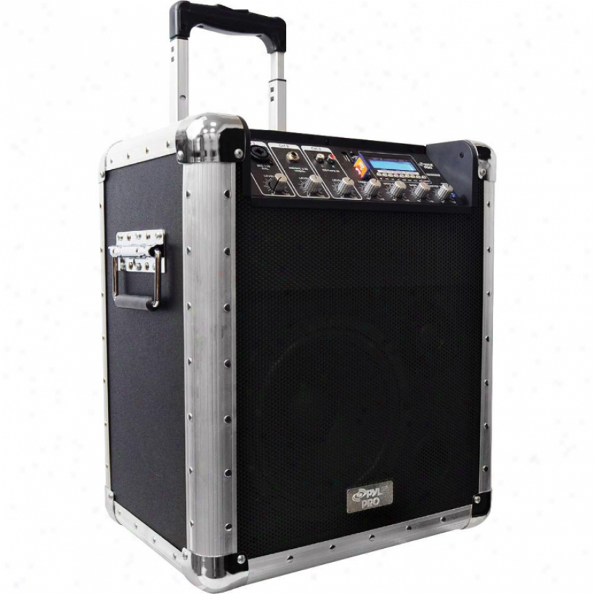 Pyle Bagtery Powered Portable Pa System W/usb/sd/mp3 Inputs(microlhone Included)