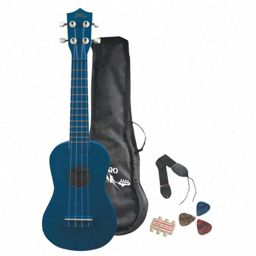 Pyle Livid Ukulele Soprano Starter Package For Beginners