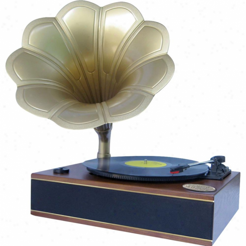 Pyle Classic Hor Phonograph/turntable W/ Usb-to-pc Connecton & Aux-in