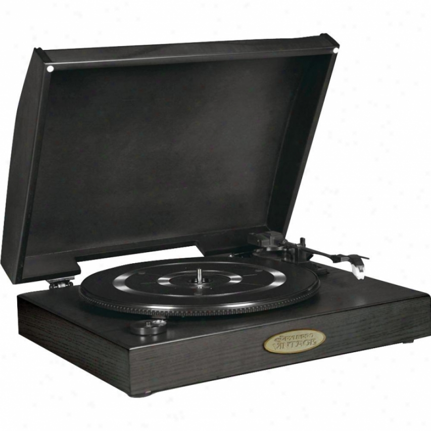 Pyle Classic Retro Usb-to-pc Phonograph/turntable W/ Aux-input Jack - Black