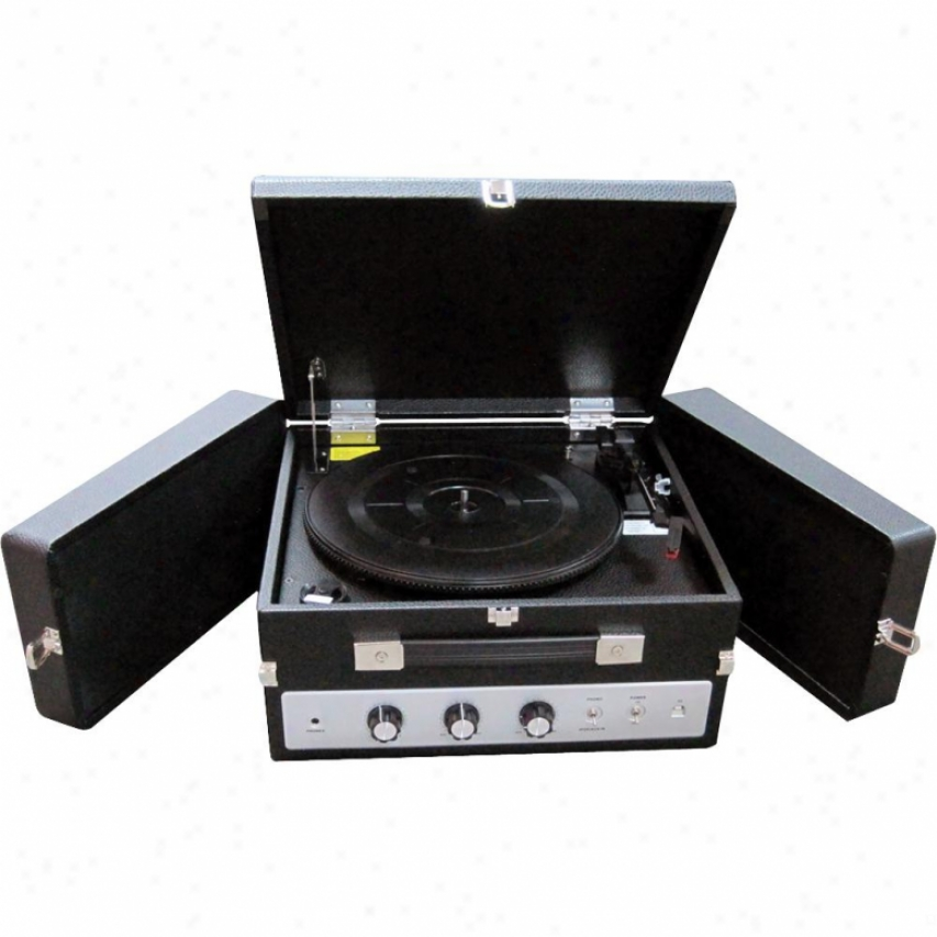 Pyle Classical Vinyl Turntable W/ Pc Encodkng/ipod Player/aux/speaker