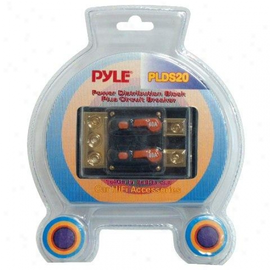 Pyle Dual 40 Amp In-pine Circuit Breaker/ Power Distribution Pulley