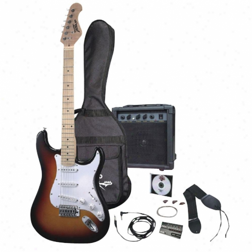 Pyle Electric Guitar Package W/guitar Amplifier/strings/tuner/bag