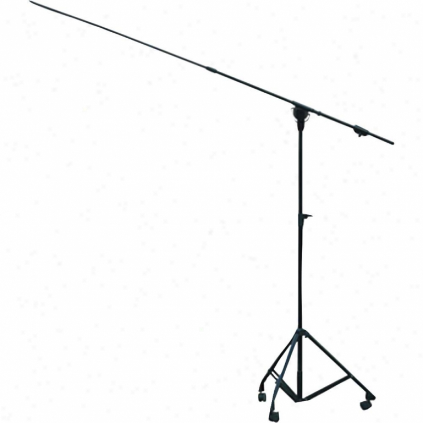 Pyle Heavy Duty Height Adjustable Boom Microphone Stand With Wheels