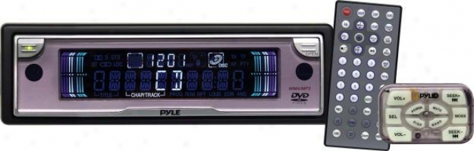 Pyle In-dash Mobile Dvd/cd/mp3/wma Player W/built-in Am/fm Tuner & Detachable Fa