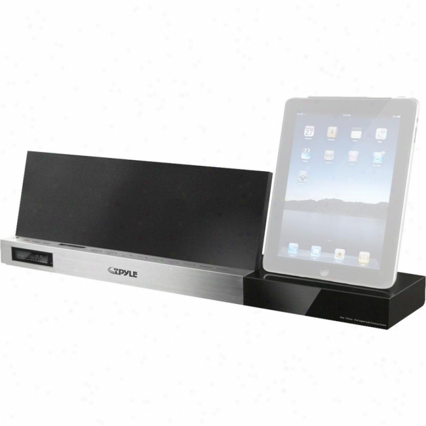 Pyle Ipad Iphone Ipod 2.1 Channel Premium Desktop Speaker+docking System With Bu
