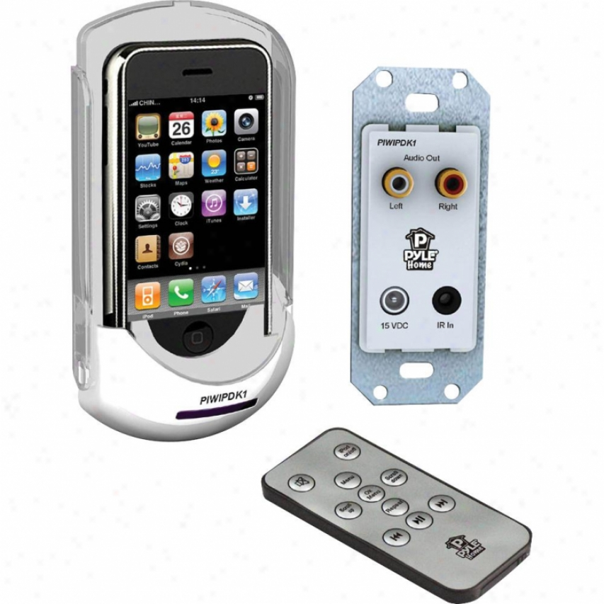 Pyle Ipod/iphone In-wall Mounted Audio/video Docking Centet W/wireless Remote