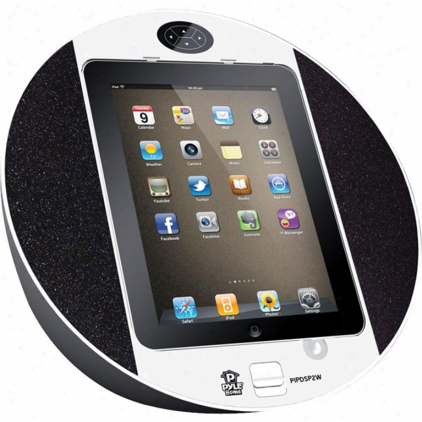 Pyle Ipod/iphone Ipad Touch Screen Dock With Built-in Fm Radio/alarm Clock (whit