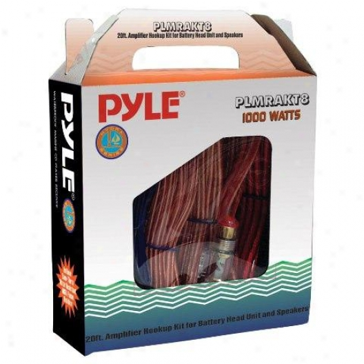 Pyle Marine Grade 8 Gauge Amplifier Installation Kit - Plmrakt8