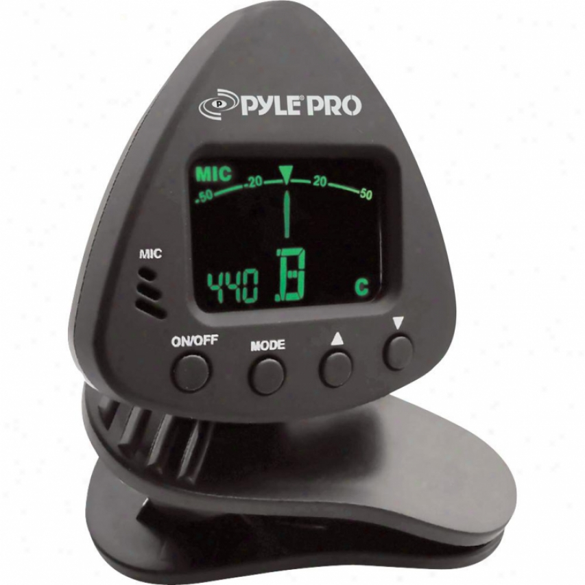 Pyle Mini Clip-on Tuner For Chromatic/guitar/bass/violin - Pgt10