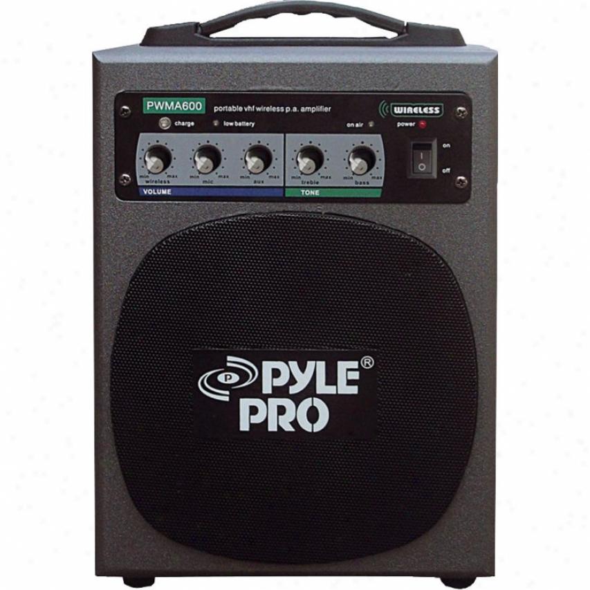 Pyle Open Box 100 Watt Wireless Battery Powered Pa System