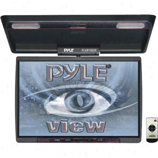 "Pyle Plvw1692r 16"" Widescreen Tft Roof Mount Lcd Monitor For Car Video"