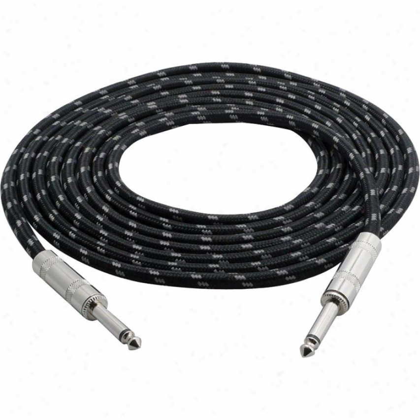 Pyle Premium Quality 12 Ft 1/4-in To 1/4-in Guitar/instrument/amp Cable W/fabrid