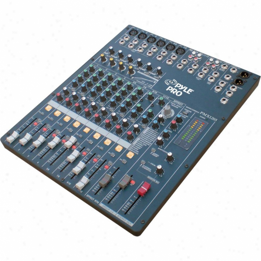 Pyle Pro Pmx-1205 12 Channel Digital Dsp Bracket Mixdr W/ Built-in Soidn Effects