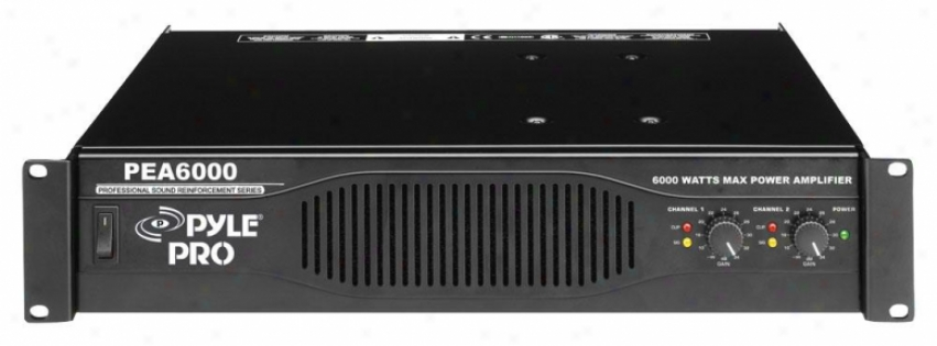 Pyle Professional 6000 Watts Stereo Power Amplifier