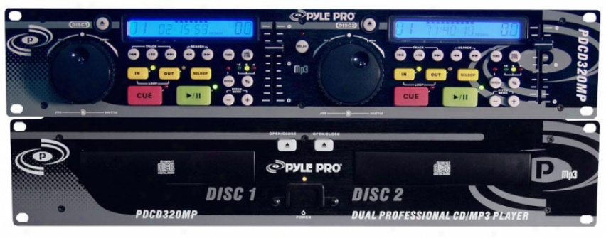Pyle Professional Dual Cd/mp3 Player W/ Jog Diaal