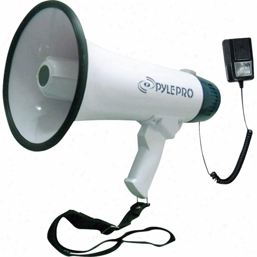Pyle Professional Dynamic Megaphone W/ Recording Function/detachable Mic