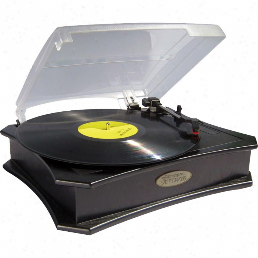 Pyle Retro Style Vinyl Turntable W/ Usb-to-pc Recording - Black