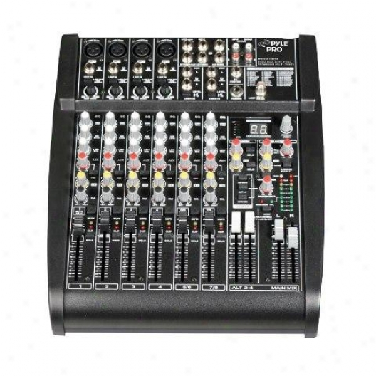Pyle Studio Grade 24 Bit 12 Channel Stereo Mixer W/built-in Fx Processor/digital