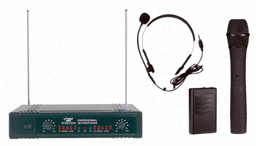 Pyle Two Channels Vhf Wireless Microphone