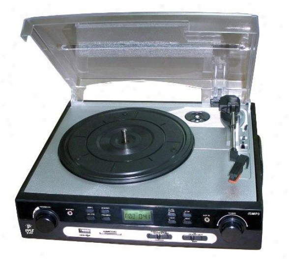 Pyle Usb Turntable With Direct-to-digital Usb/sd Card Encoder & Built-in Am/fm R