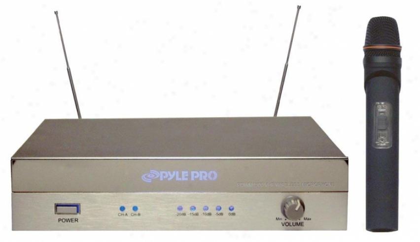 Pyle Vhf Diversity Wireless Microphone System