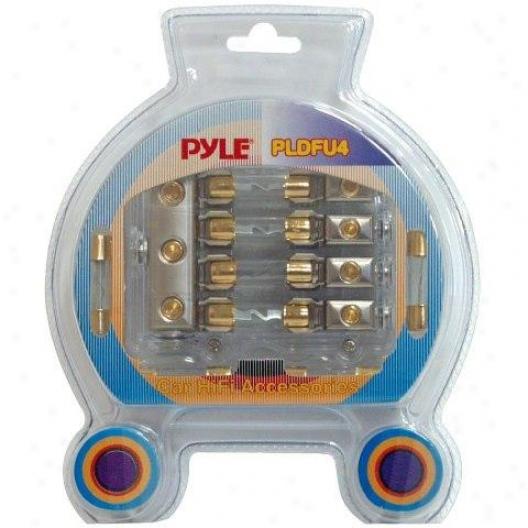 Pyle Waterproof Quad 40 Amp Fuse Holder