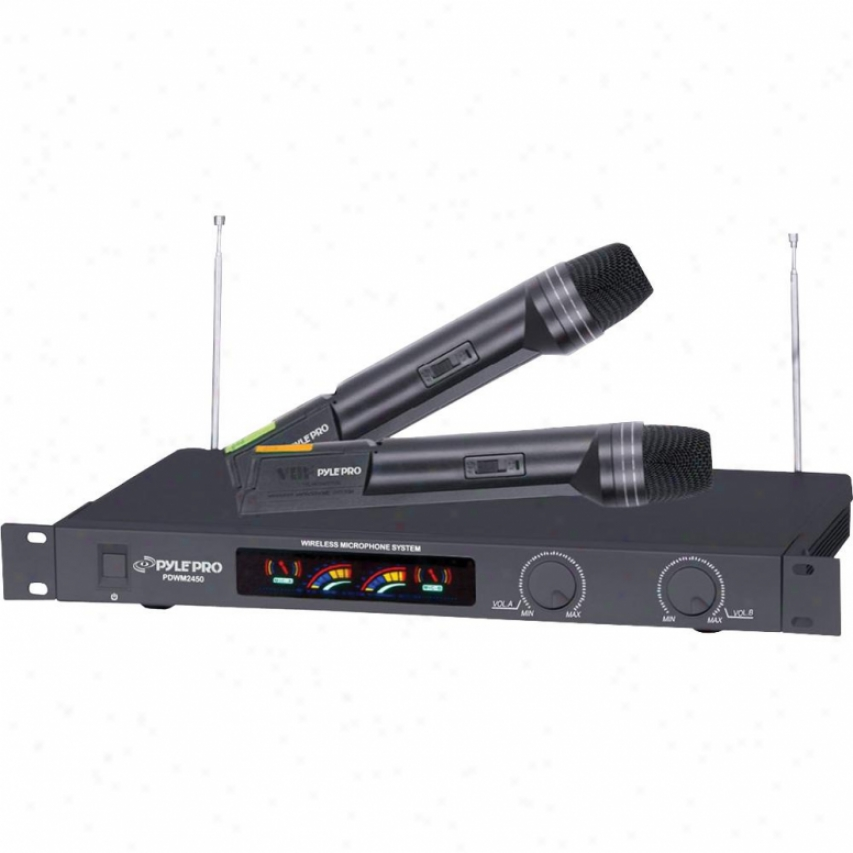 Pyle Wireless 2 Channel Vhf Microphone System With 2 Microphones