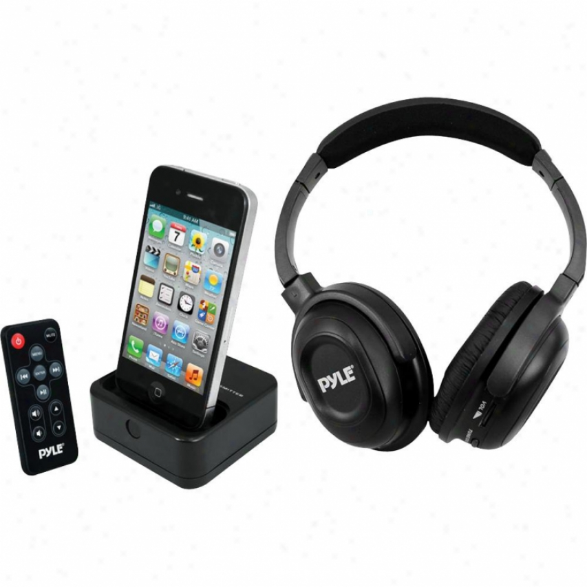Pyle Wireless Stereo Headphone W/iphone Doc