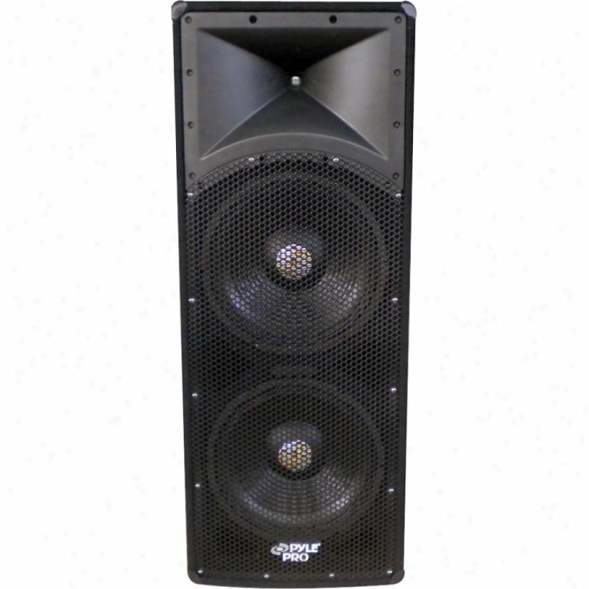 """Pylepro 1200-watt Dual 12"""" 3-way Pa Speaker Cabinet"""