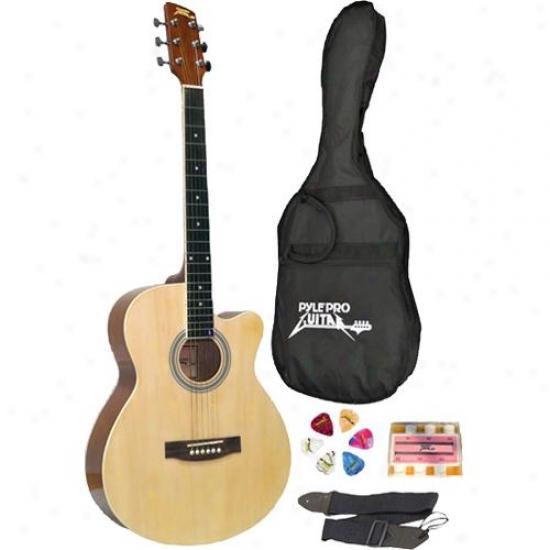 Pylepro 39-inch Beginner Jammer Acoustic Guitar - Pgakt39