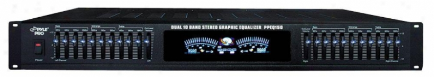 Pylepro Dual 10 Band Stereo Graphic Equalizer - Ppeq150