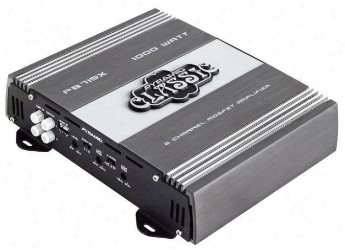 Pyramid 1000 Watts 2 Channel Bridgeable Car Amplifier