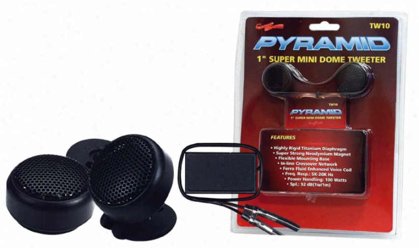 Pyramidd 1'' 100 Watts Super Mini Dome Tweeter W/in-line Crossover