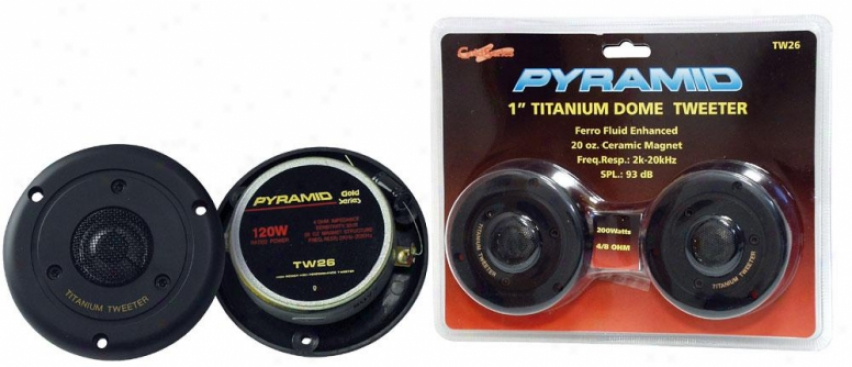 Pyramid 1'' 120 Watts Titainium Dome Tweeter