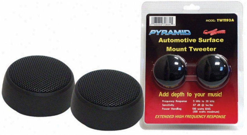 Pyramid 2'' 100 Watt Surface Mount Tweeter