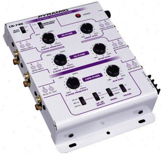 Pyramid 3-way 6 Channel Electronic Crossover System