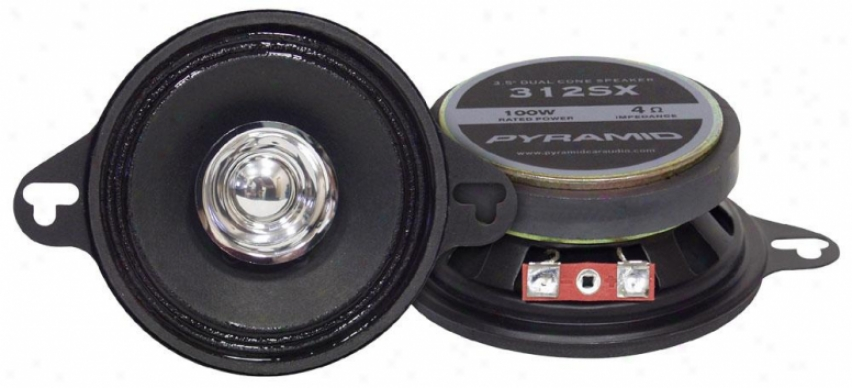Pyramid 3.5'' 100 Watts Two-way Dual Cone Speakers