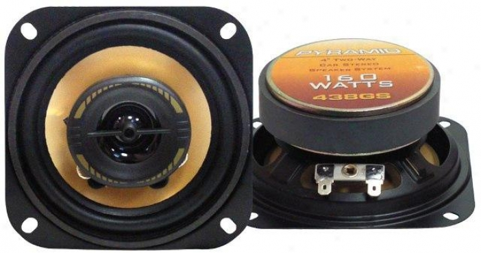 Pyramid 4'' 160 Watts Two-way Speakers