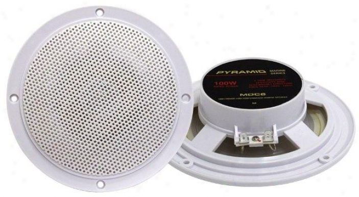 Pyramid 5.25'' Marine 100 Watts Dual Cone Waterproof Stereo Speakers