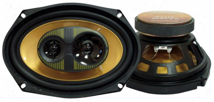 Pyramid 6'' X 9'' 400 Watts Three-way Speakers