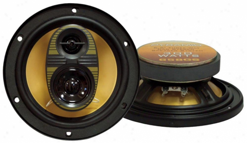Pyramid 6.5'' 200 Watt sThree-way Speakers